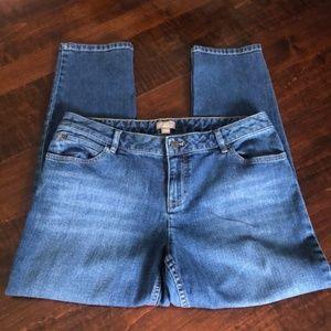 J. Jill Ankle Stretch Denim Jeans Size 12